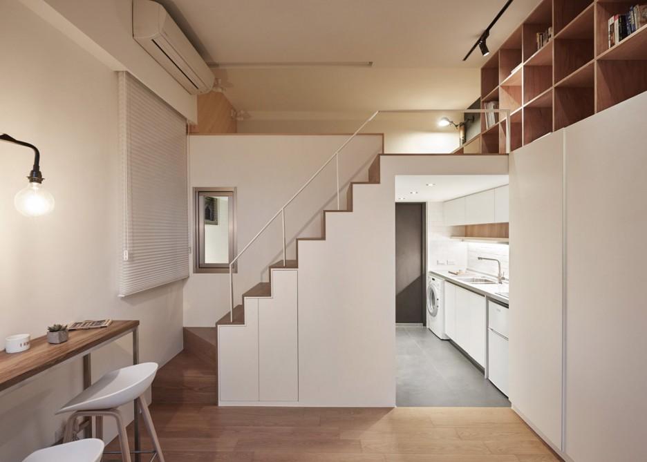 tiny 22-metre-square Taiwan apartment