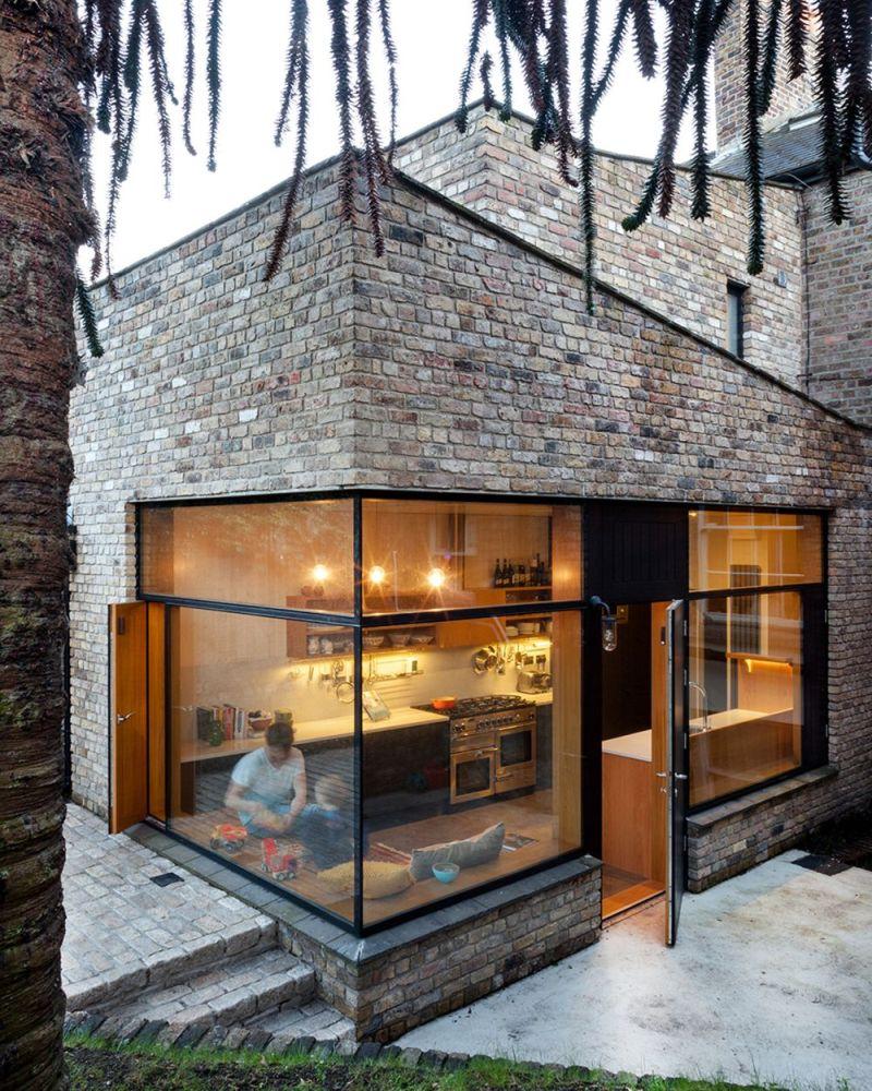 A brick extension in Ireland