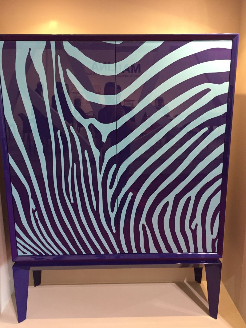 Accent purple zebra design