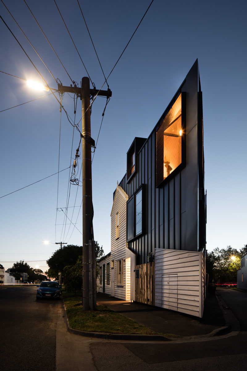 Wedge-Shaped House Built On A Triangular Heritage Site