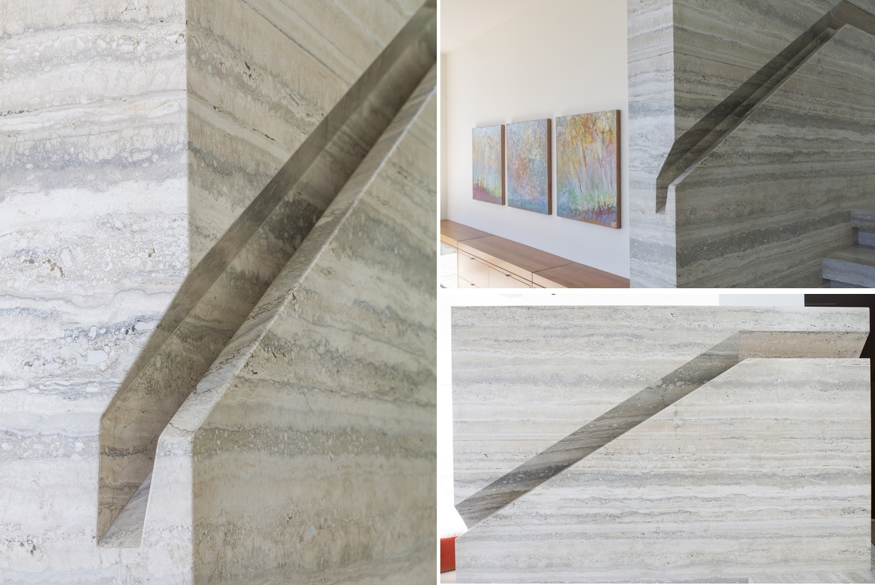 Amazing marble built in handrail
