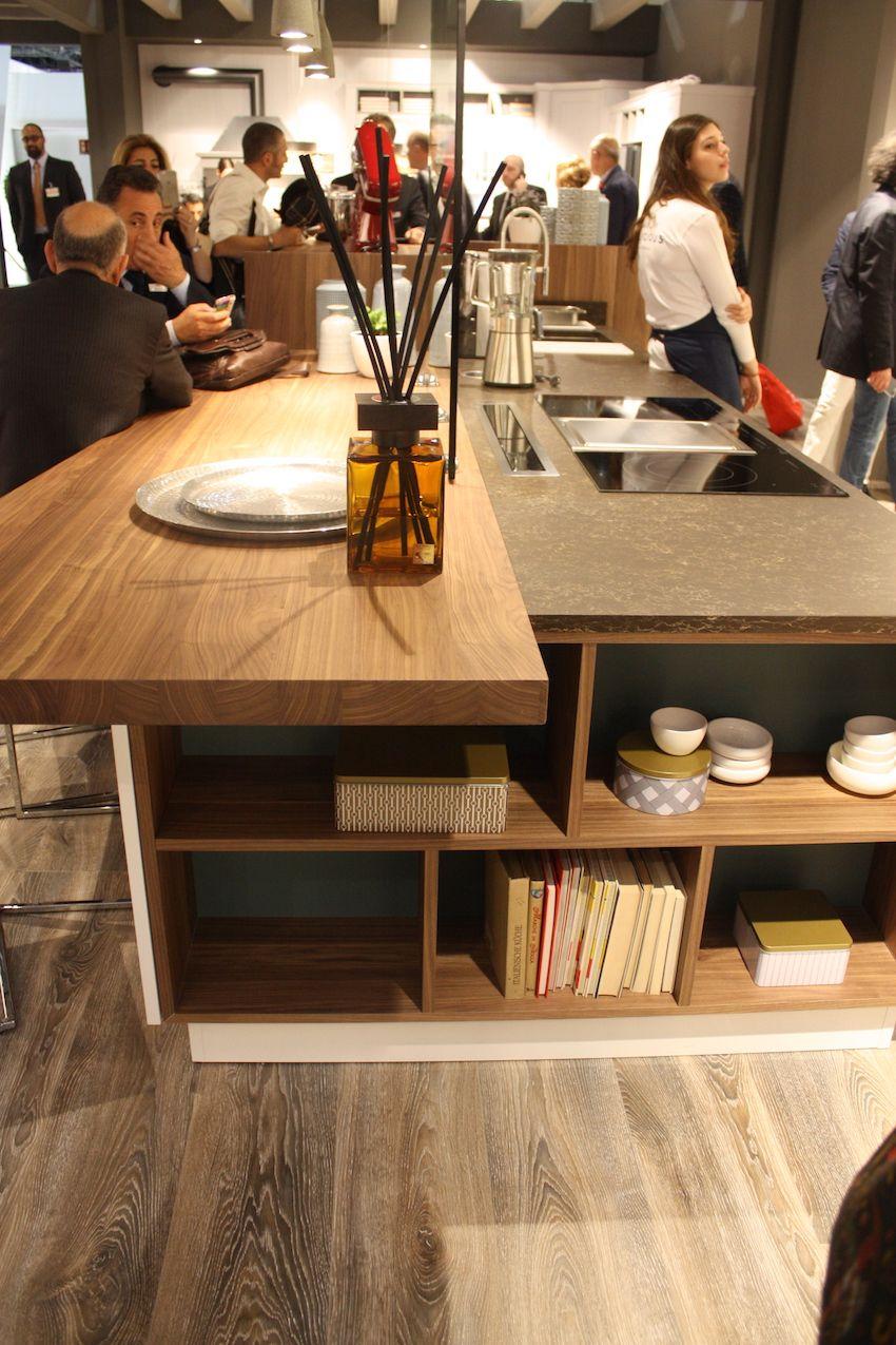 Arrex wood island shelves