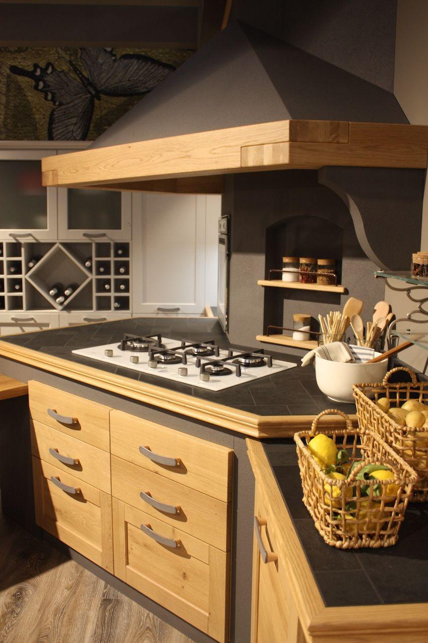 Arrex wood mixed kitchen built in shelves