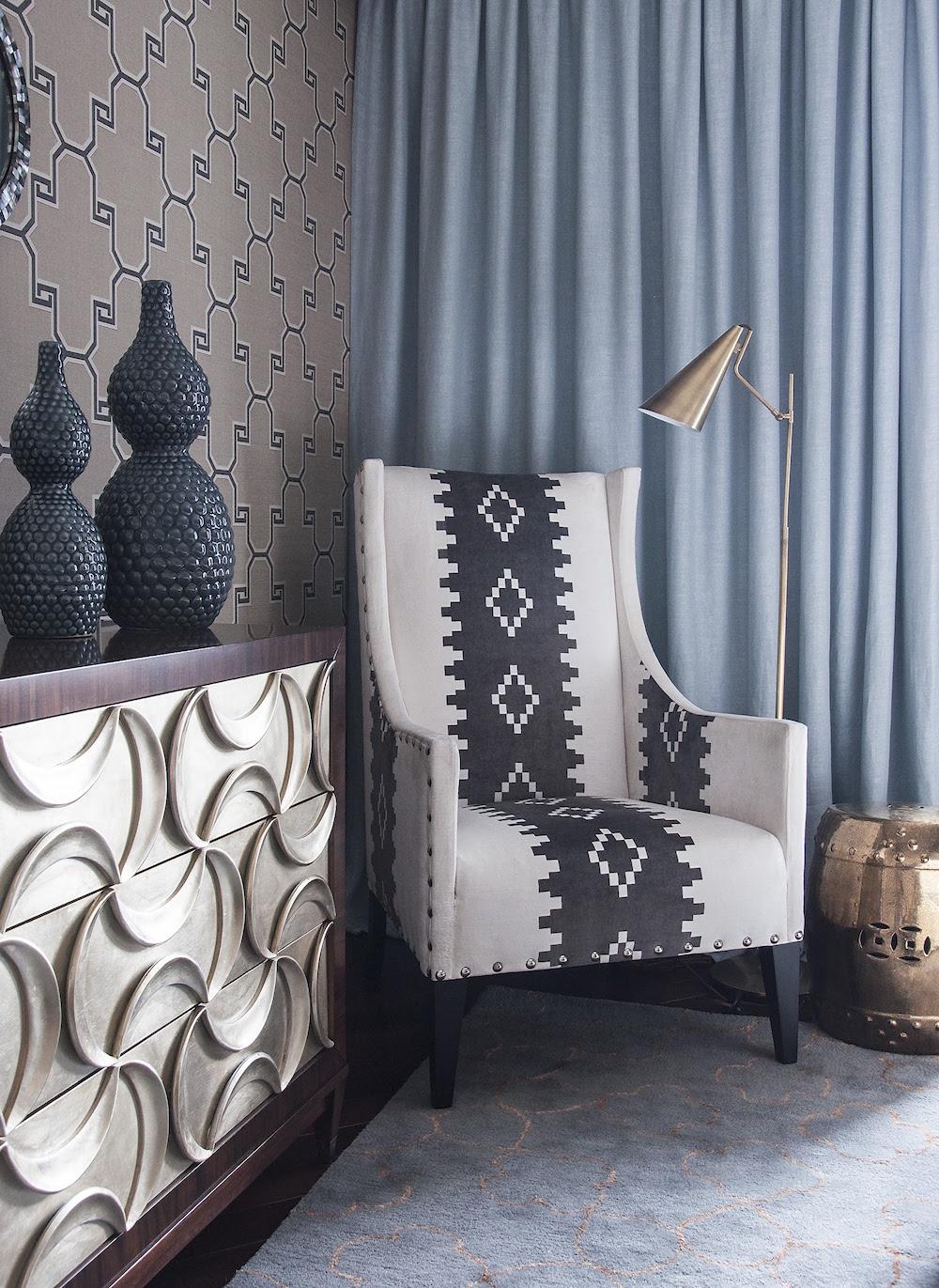 Art decor apartment accent chair