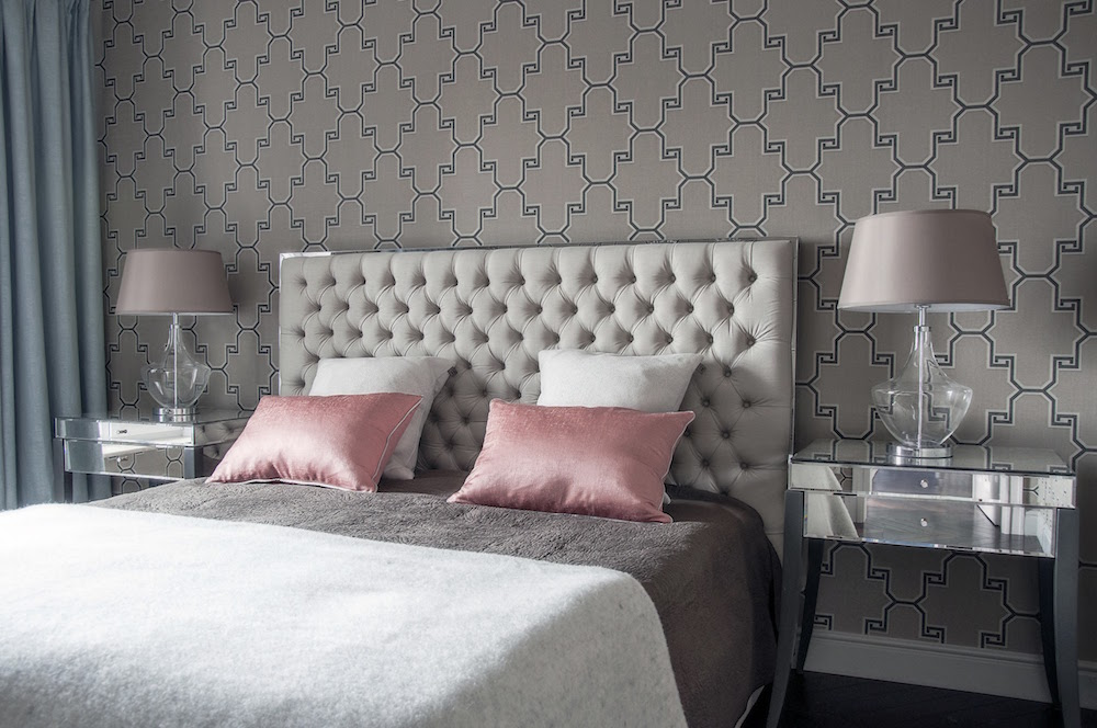 Art decor apartment bedroom tufted headboard