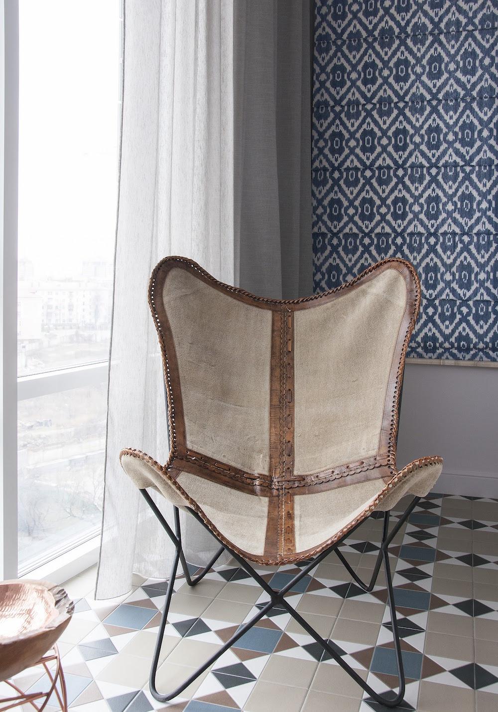 Art decor apartment butterfly chair