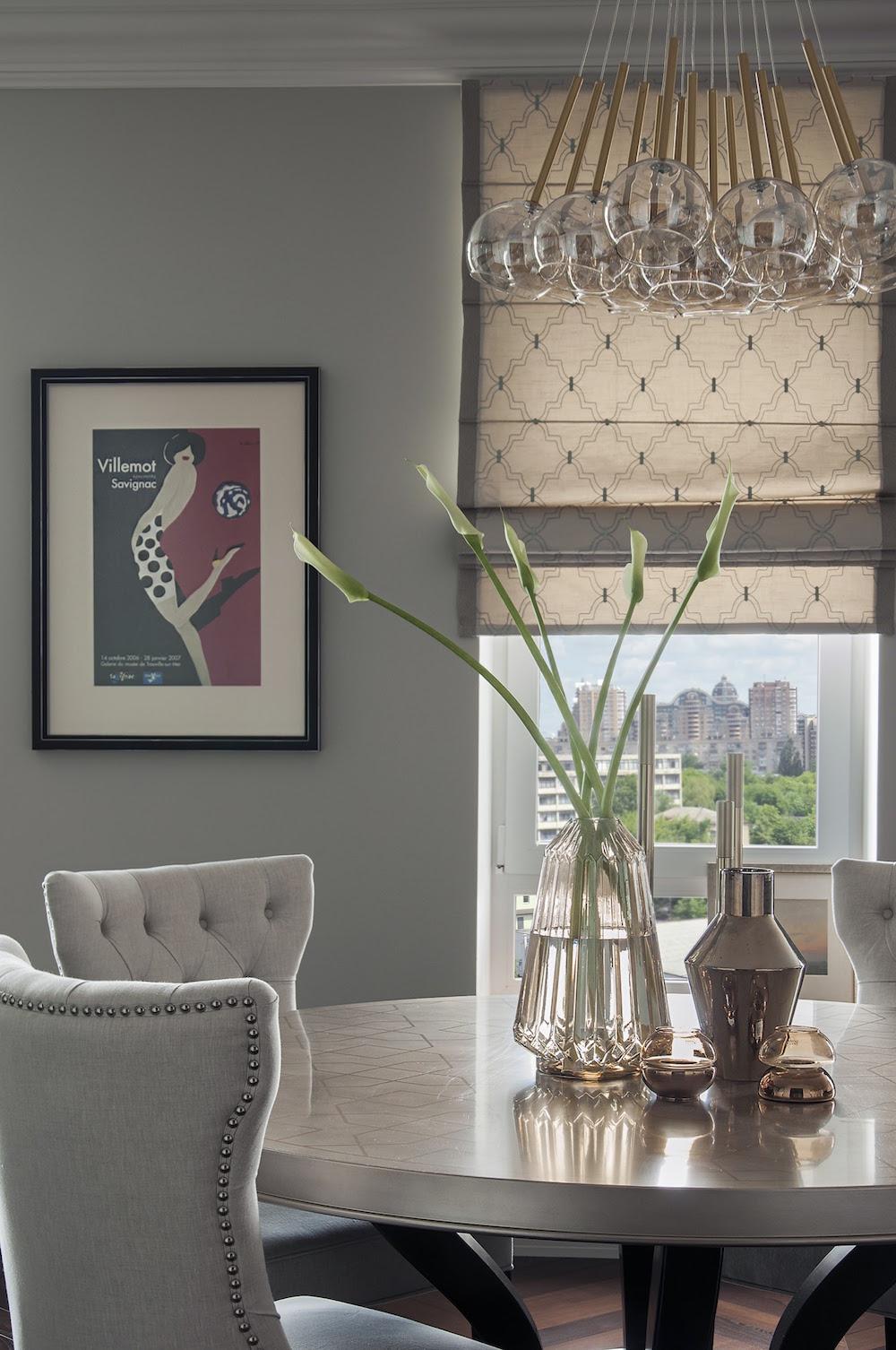 Art decor apartment dining area chandelier
