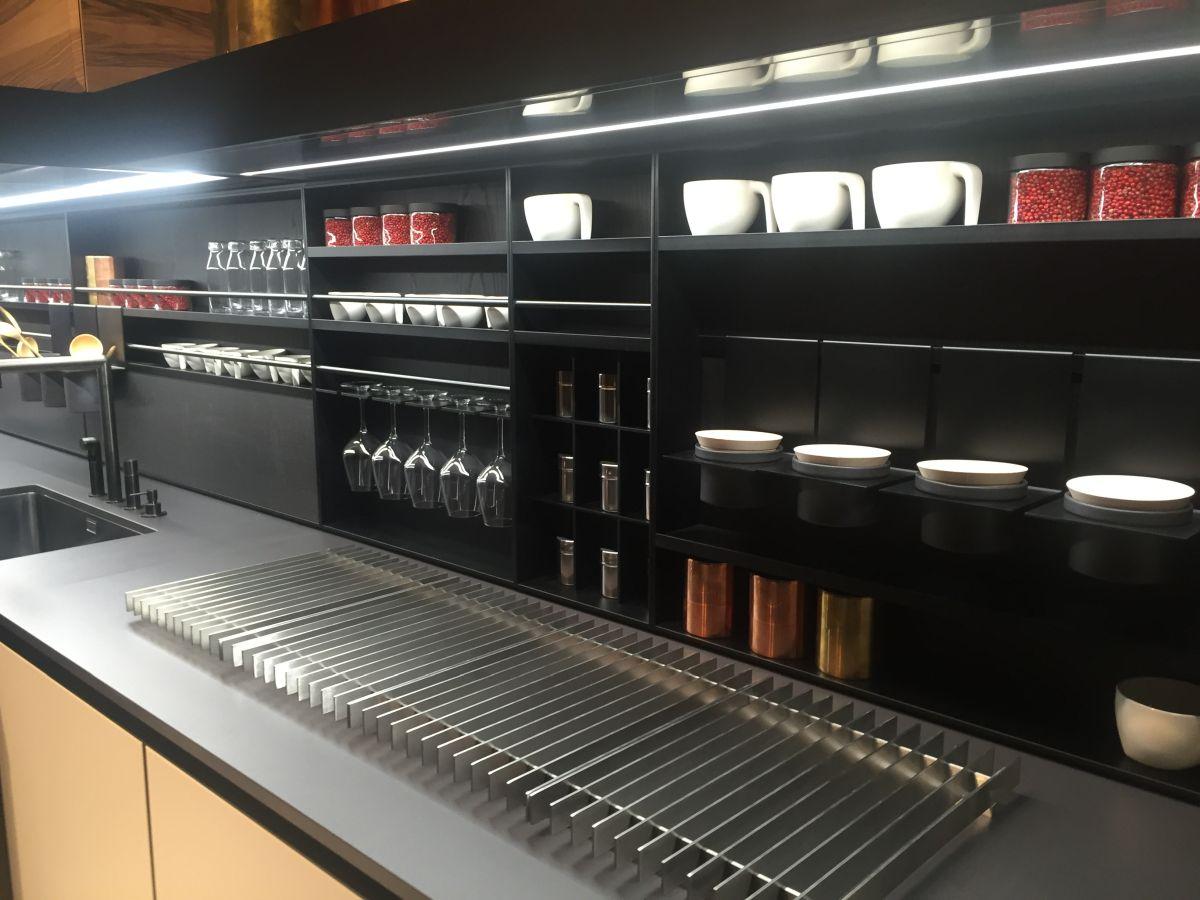 Black Kitchen Shelves