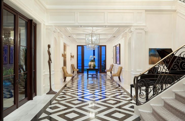 When And Where Can Marble Floors Become An Elegant Design ... Marble House Floor Design on contemporary marble floor, white marble floor, shiny marble floor,