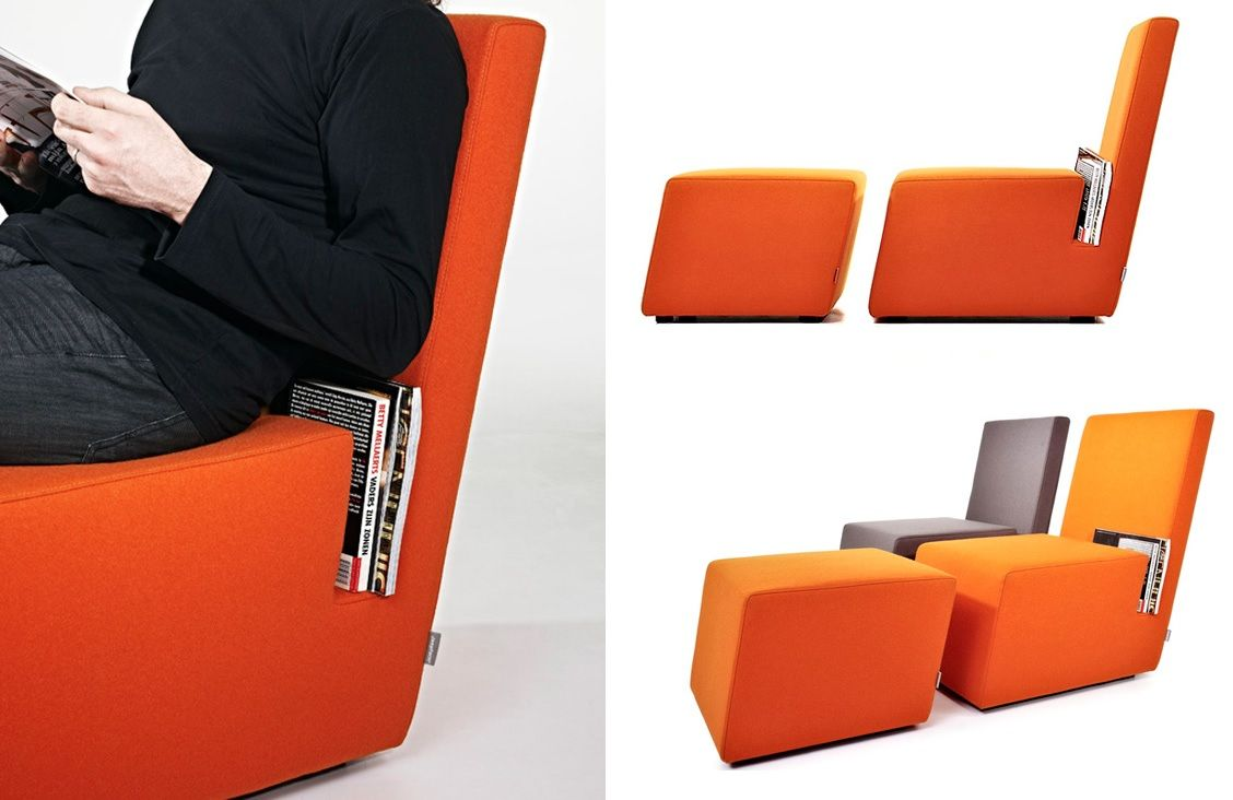 Comfortable reading chair with storage