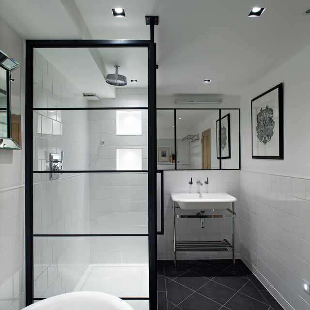 Black Frame Showers Sophisticated With Modern