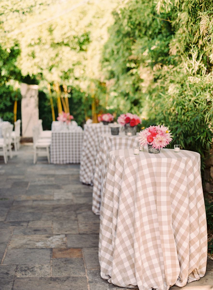 Creating a rustic cocktail reception