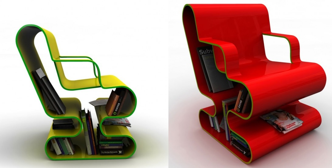Curved Chair Concept With Storage