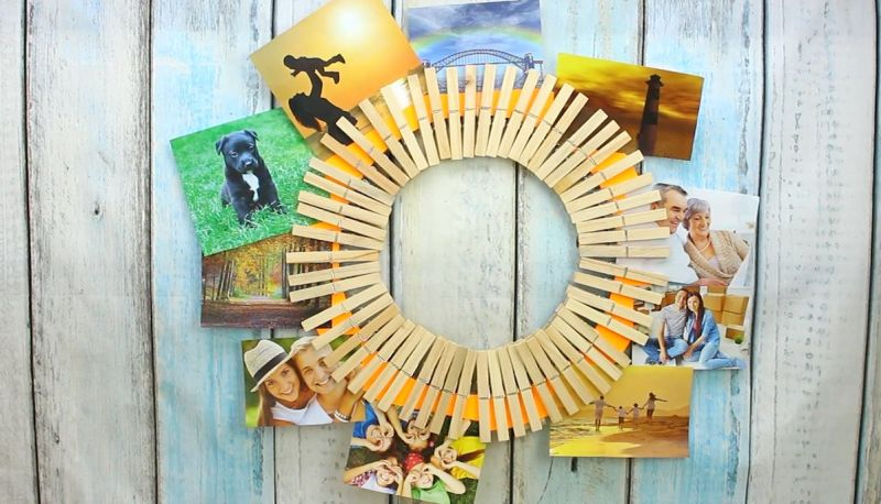 Make A Quick Diy Clothespin Picture Holder Home