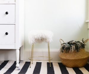 DIY Faux Fur Stool