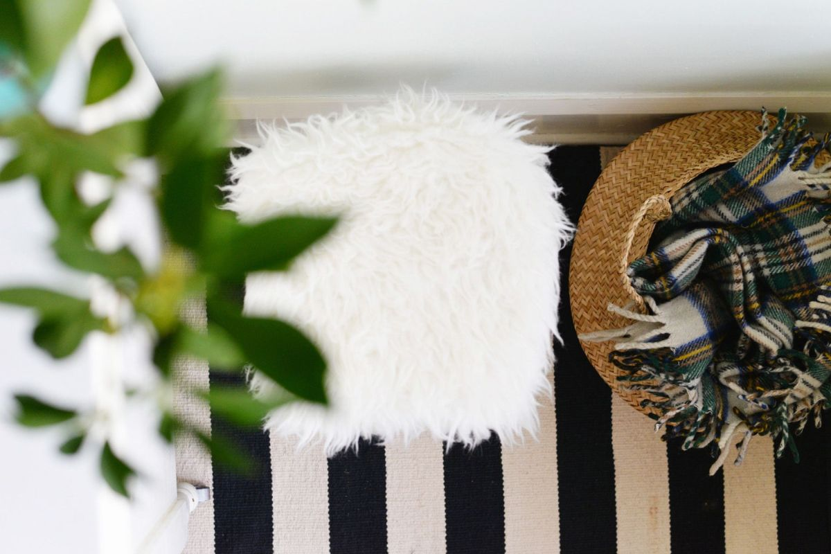 DIY Faux Fur Stool Project