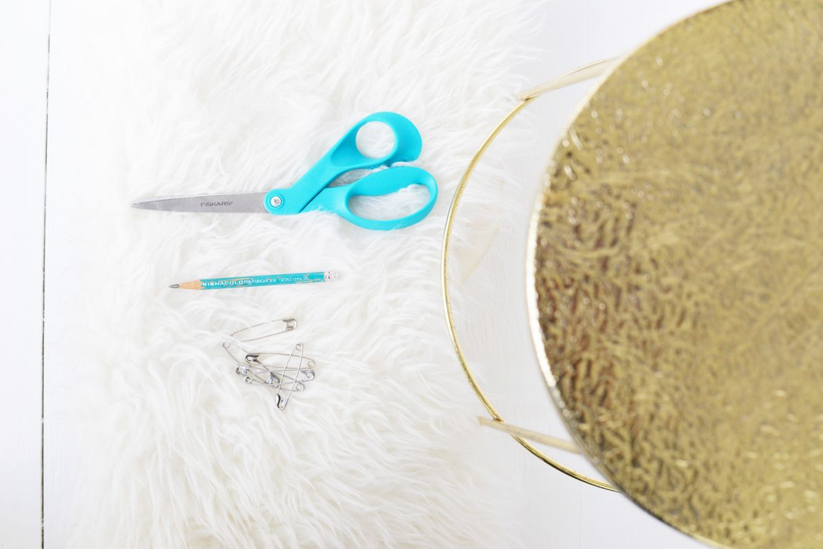 DIY Faux Fur Stool Supplies