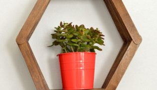 Make an Easy Honeycomb Shelf with Popsicle Sticks
