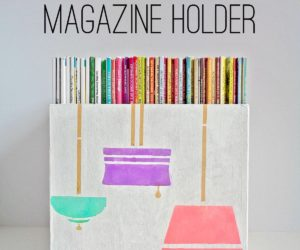DIY Paper Mache Box Magazine Holder