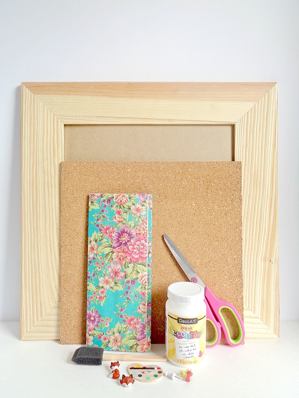 Wooden Framed Cork Board