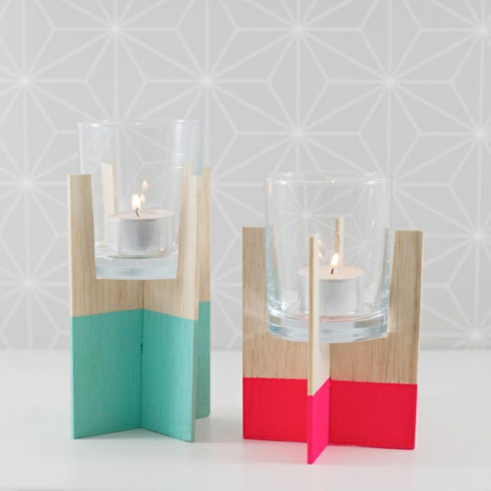 DIY midcentury candle holders