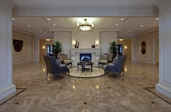 Entryway Living Room Marble Floor