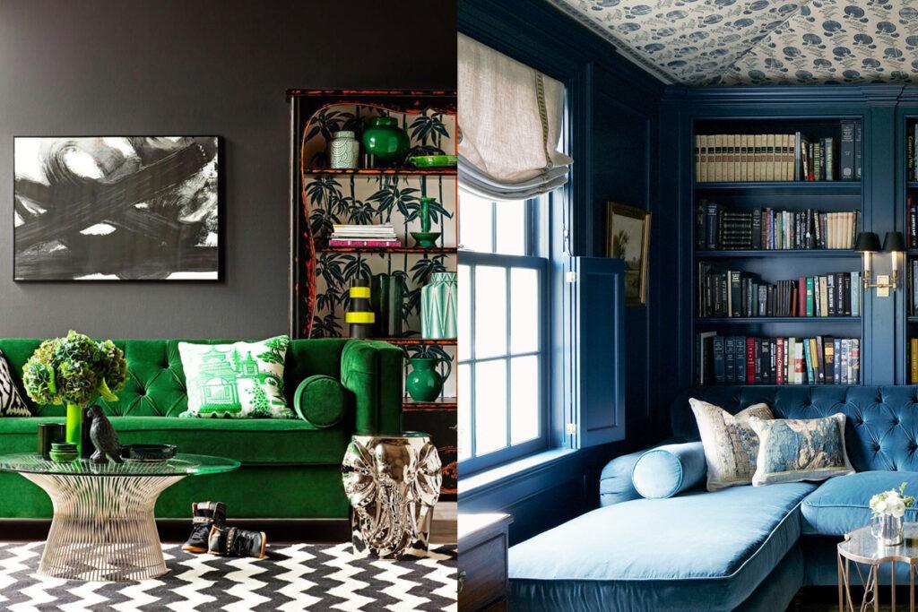Espresso and Jewel Tone Furniture