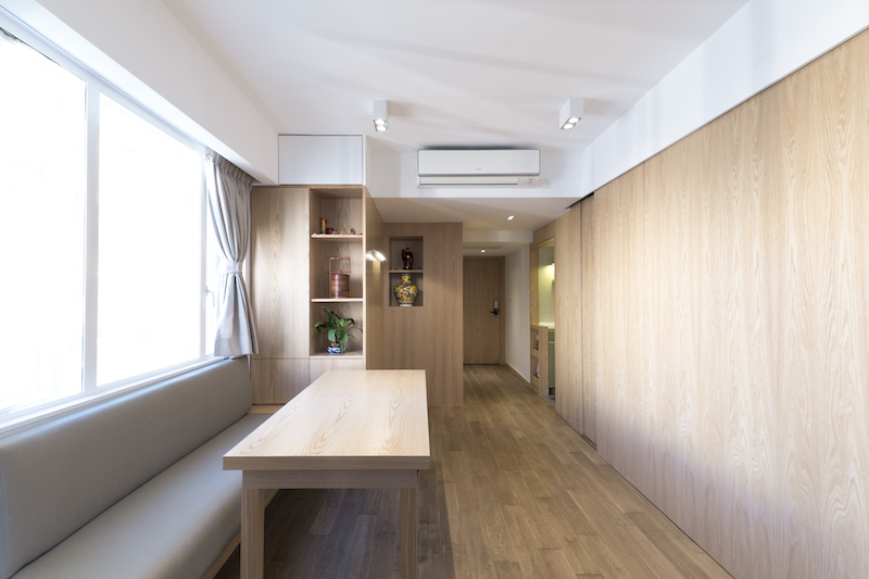 Micro Apartment With Sliding Furniture And An Open Design
