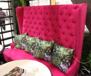 Fuchsia in particular gives a room a luxurious ambiance.