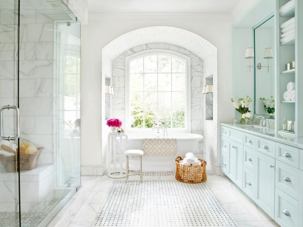 When And Where Can Marble Floors Become An Elegant Design Feature - Large marble bathroom tiles