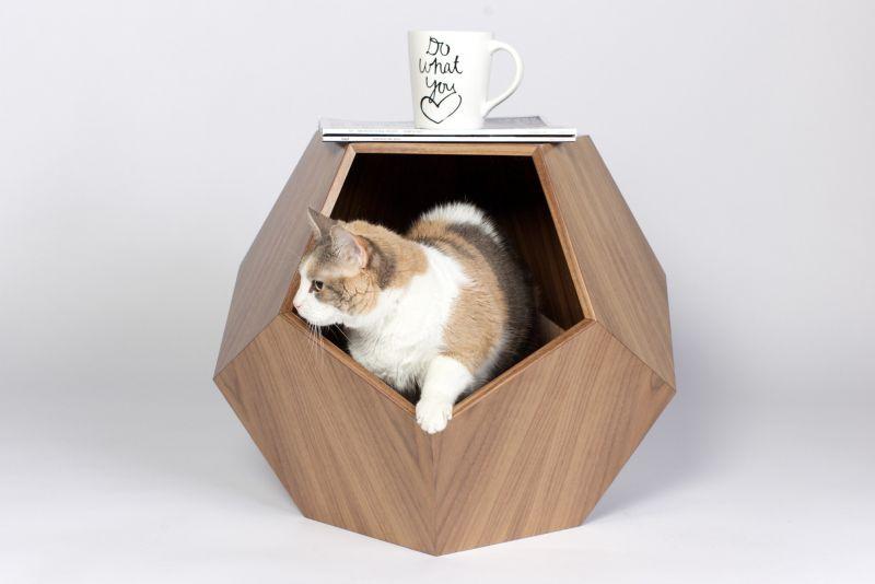 Geometric modern cat cave