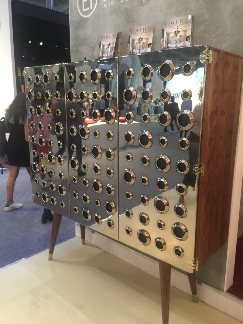 Gold Accent Monocles Cabinet from Esential Home