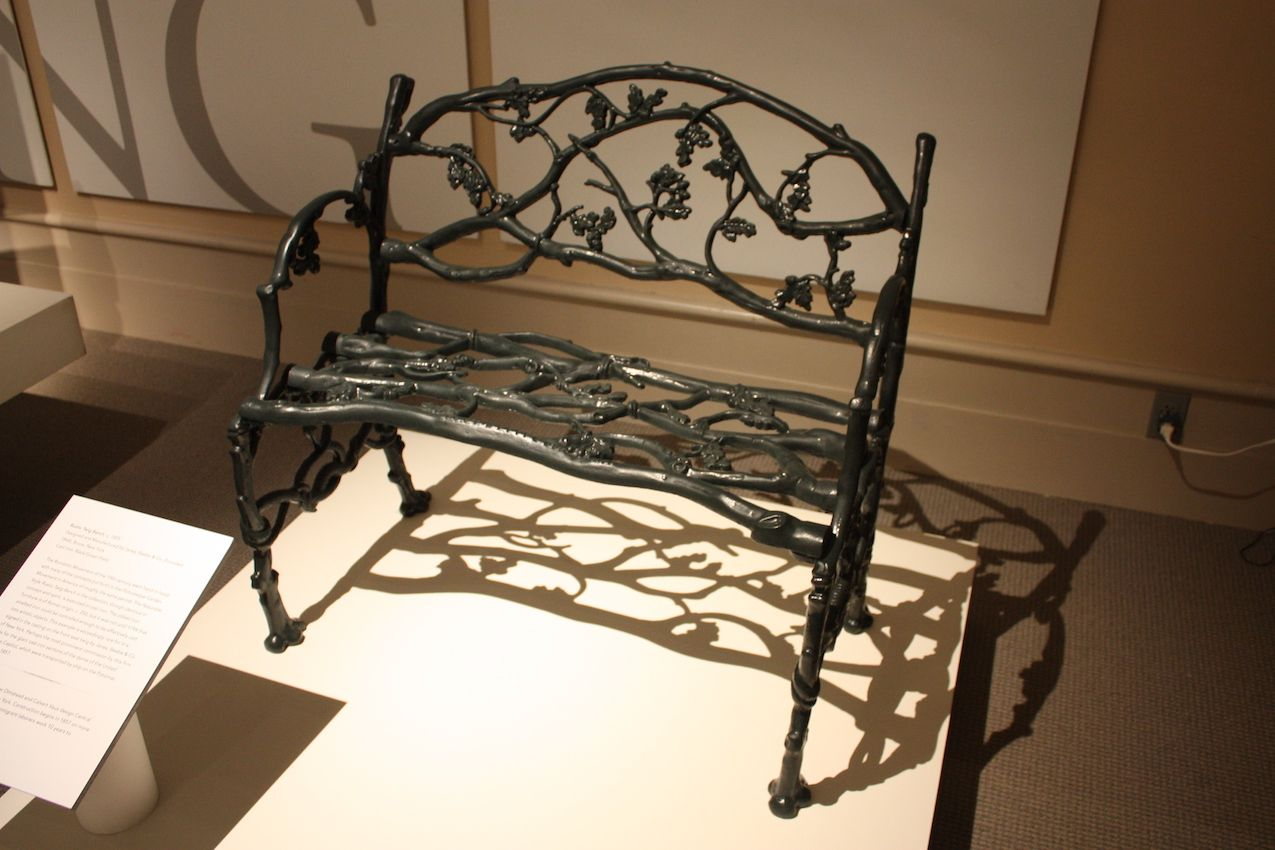 The style of the bench also coincided with the Romantic Movement in the U.S.