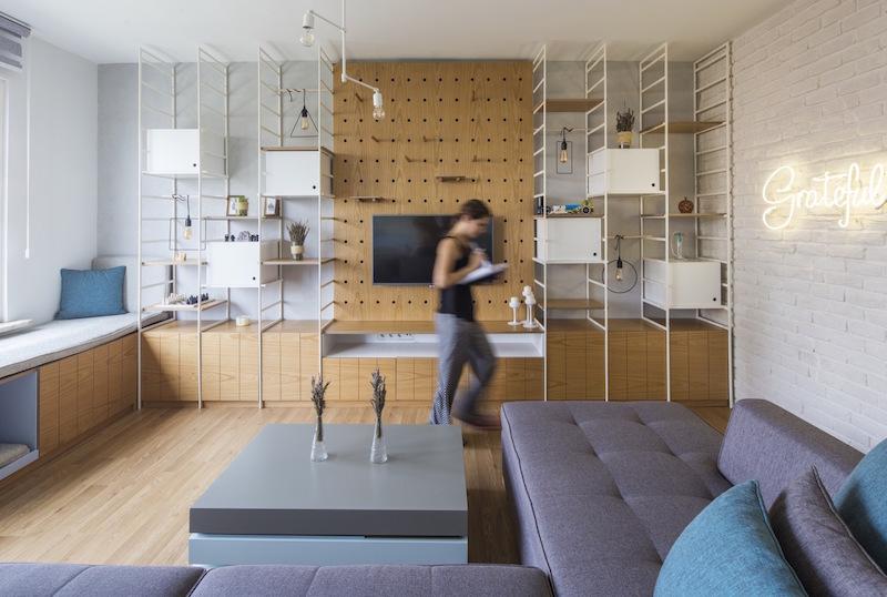 Kiev Levent apartment flexible Tv unit