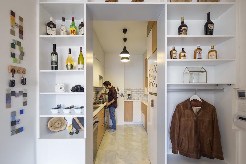 Kiev Levent apartment kitchen area
