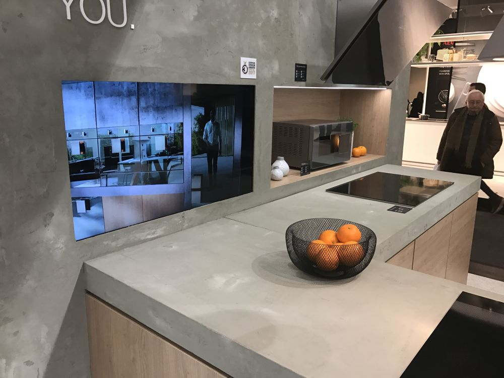 View In Gallery This Philippe Starck Kitchen Features Modern Concrete  Countertops ...