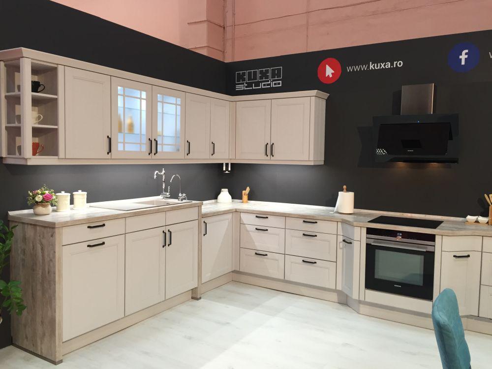 Large white kitchen design