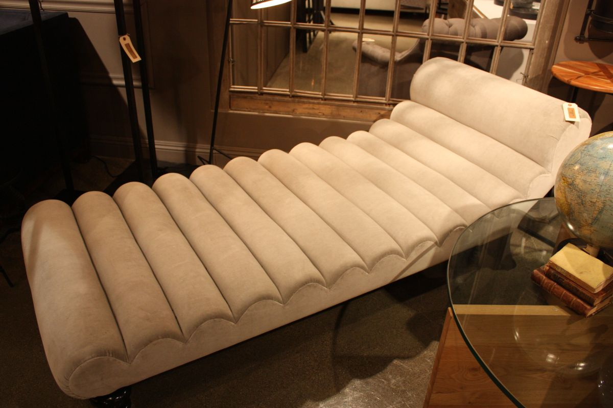 Large white lounge chair
