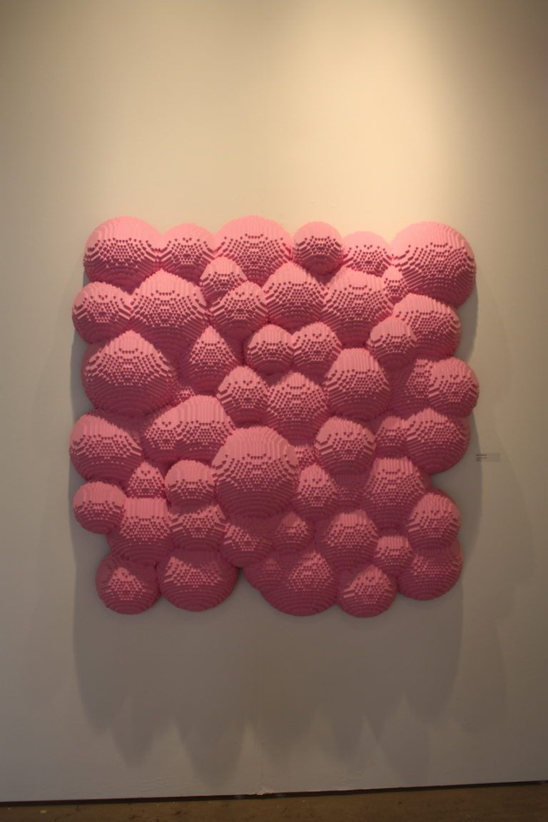 """Bubblegum"" looks like a collection of cartoon bubbles."