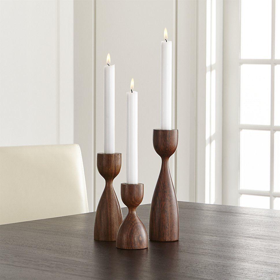 Merritt Solid Wood Taper Candle Holder