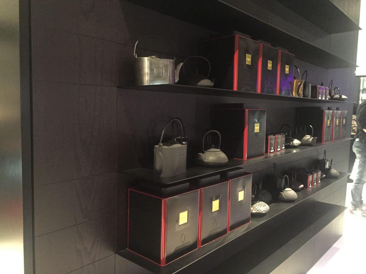 Metallic Shelves in Kitchen