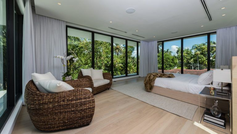 Thanks to large windows on three sides of the room, the master suite has some of the most amazing views
