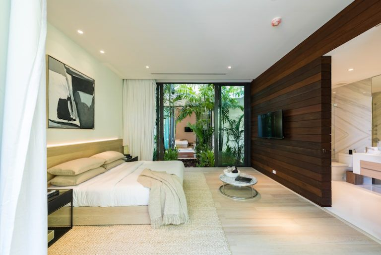 In total, the residence has six bedrooms, all with elegant and refined interior designs