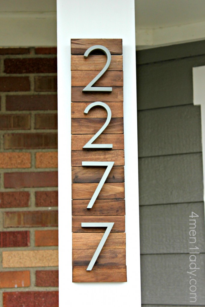 Creative ways to craft and display your diy house number signs publicscrutiny Gallery