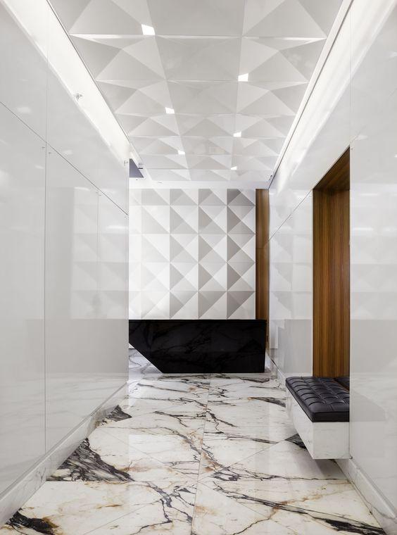 Modern marble floor