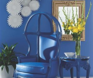 Polart's Naked Enrico Open Dome Chair and side table.