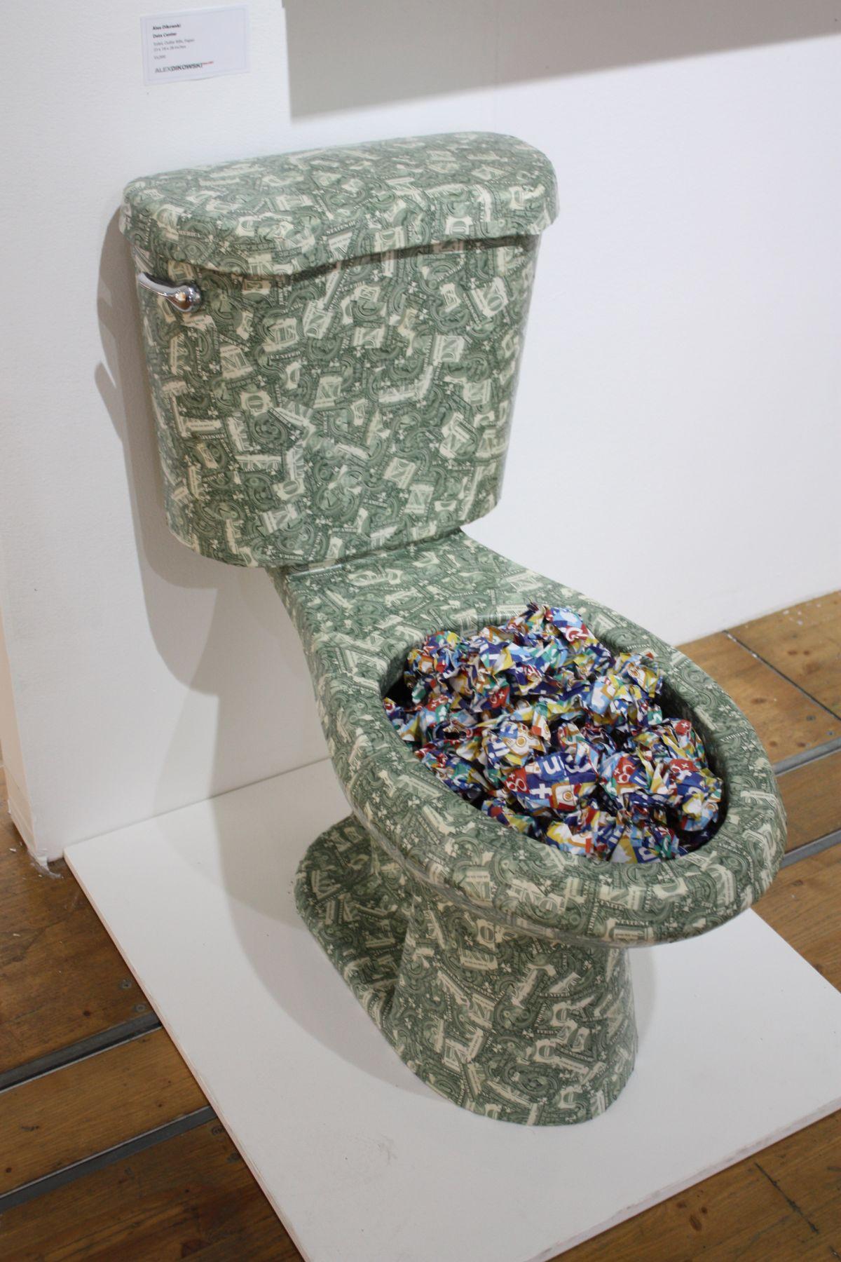 Sage Pattern Toilet Art