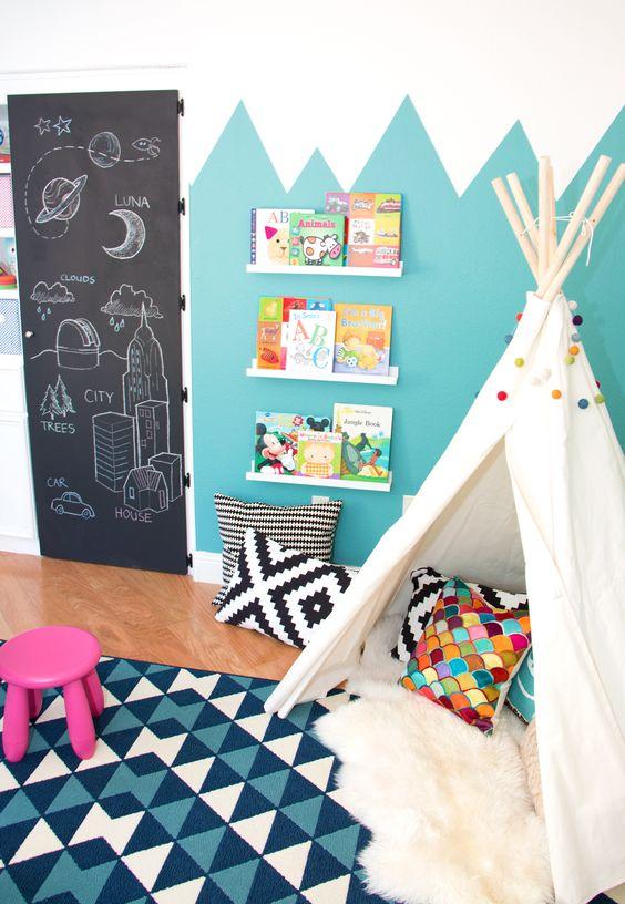 Sheepskin rug kids room