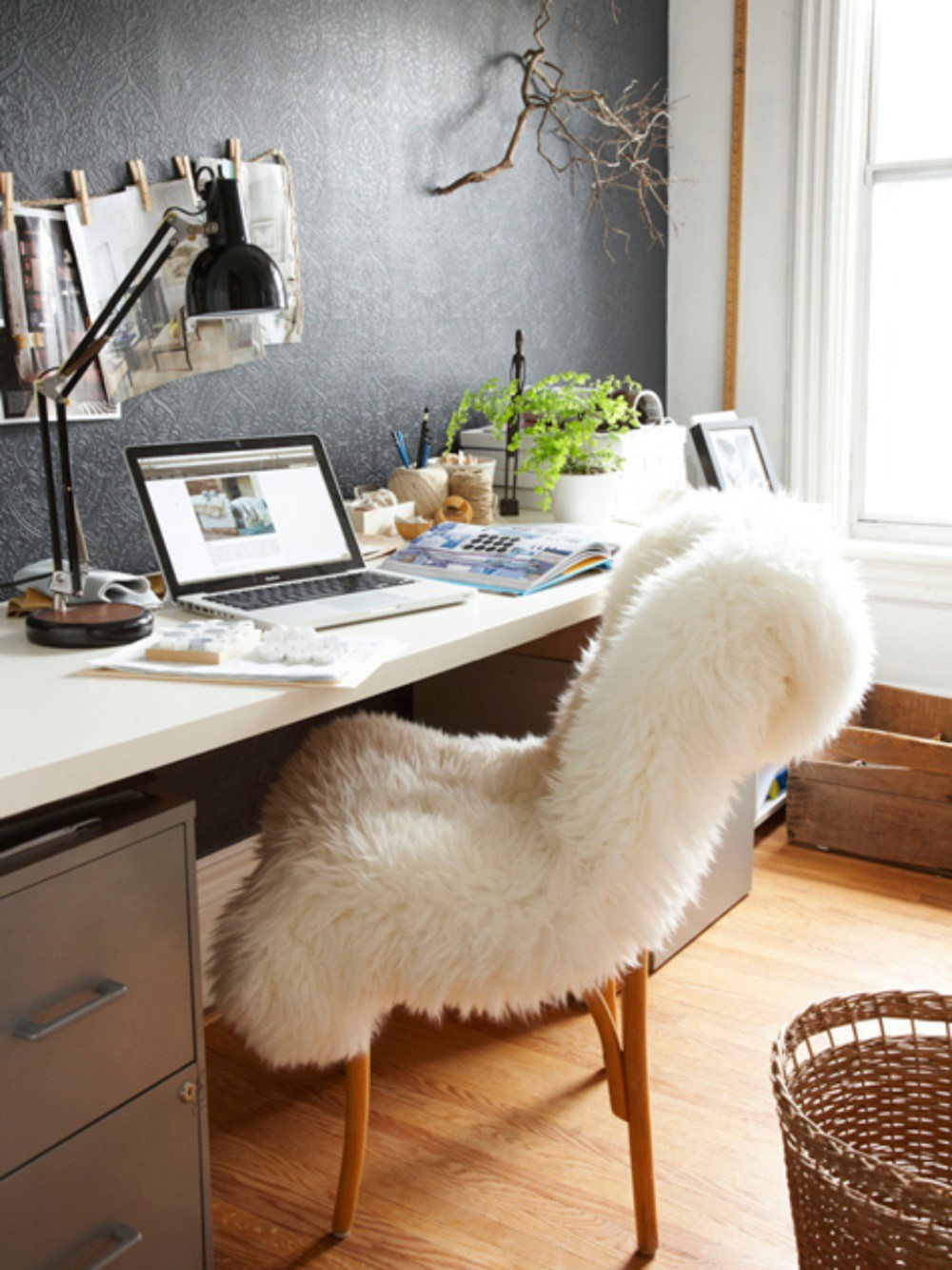 Delicieux Sheepskin Rug Office Chair