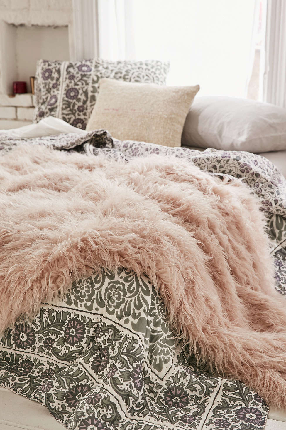 Sheepskin Rug Throw Blanket
